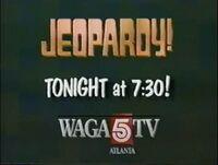 WAGA-TV Jeopardy song promo 1990