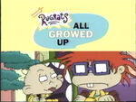 All Growed Up early logo from 2001 VHS ad