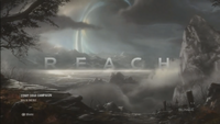 Halo Reach menu