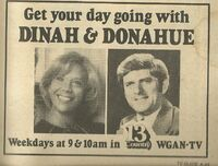 Dinah Donahue Ad TV Guide Maine March 26-April 1, 1977 001