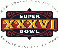 Super Bowl XXXVI original logo