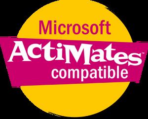 Microsoft ActiMates Compatible logo (1997-2000).png