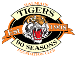 BalmainTigers90Season Logo