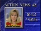 WBMG Action News 42 Barbra Bolding promo 1990