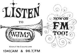 WJMA FM Oange 1971a.png