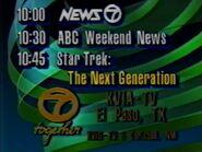 KVIA-TV Channel 7 Together Something Happening 1989-90