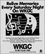 WKGC - 1988 - Big Band Saturday Night - -September 29, 1989-
