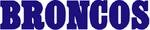Denver Broncos wordmark (1968-1996)