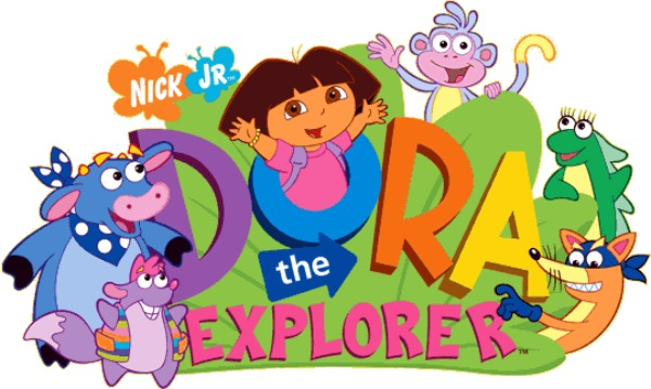 Dora the Explorer Logo with Characters.jpg