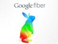 Google Fiber rainbow bunny