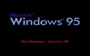 Windows 95 Pre-Beta 3 Bootscreen (January 1995)