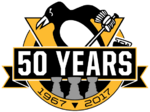 Pittsburgh Penguins logo (50th anniversary)
