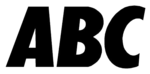 ABC 5 Wordmark Logo (1992-2008)