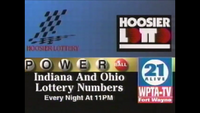 WPTA Lotto Numbers 1996