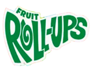 Tall, green letters arranged in a curve with a white border- just like the 2009 logo- but with a solid green color and a different font for the word 'FRUIT'.
