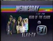 KLAX-TV ABC's Head of the Class promo 2