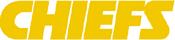 Kansas City Chiefs wordmark (yellow)