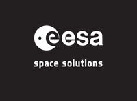 ESAsolid logo spacesolutions whiteonblack