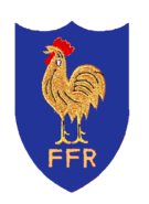 France Rugby Old Badge blue