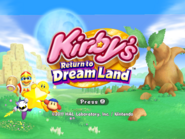KRTDL Title Screen 4x3 Yellow Kirby