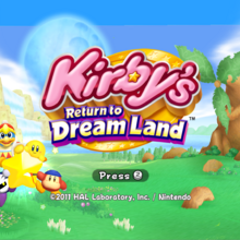 KRTDL Title Screen 4x3 Yellow Kirby.png