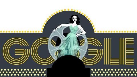 Hedy Lamarr's 101st Birthday Google Doodle