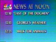 KBJR-TV's News 6 At Noon Video Bumper From Friday Afternoon, September 8, 1995