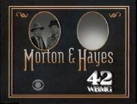 CBS Morton & Hayes promo with WBMG 42 id bug 1991