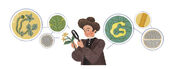 Google Carrie Derick's 155th Birthday