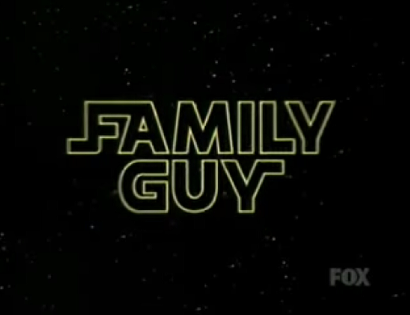 """Family Guy logo used in the """"Laugh It Up, Fuzzball"""" trilogy, in the style of Star Wars.jpg"""