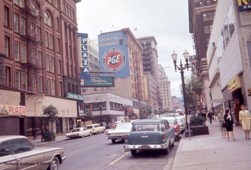 SW Broadway, Downtown PDX, 1964.jpg