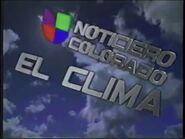Kcec noticiero univision colorado el clima package 2001