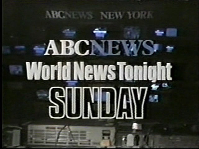 ABC World News Tonight/Weekend Edition