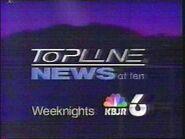 KBJR-TV's News 6 Topline At 10 Video Promo From 1995