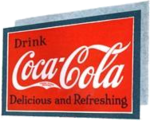 Coca-Cola ad sign 1920s