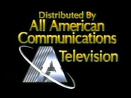 All American Communications Television (Gold Text)