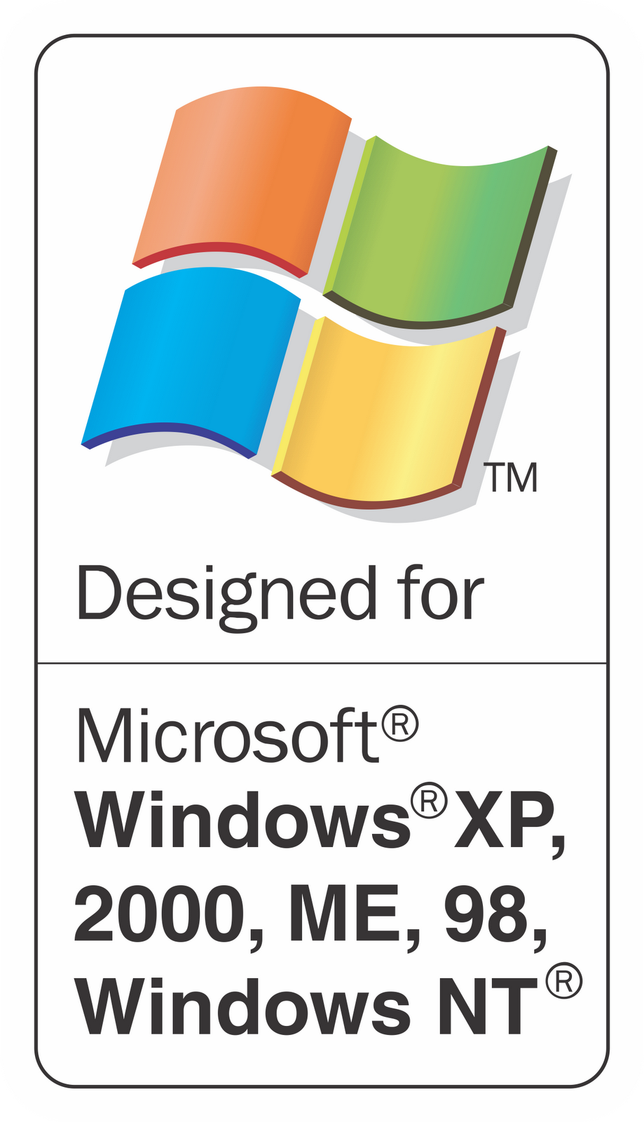 Designed for Windows XP, 2000, ME, 98, Windows NT.png