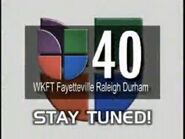 Wkft wuvc univision 40 stay tuned 2003