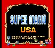 Super Mario Collection Super Mario USA Title