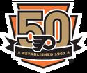 Philadelphia Flyers logo (50th anniversary)