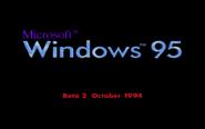 Windows 95 Beta 2 Bootscreen (October 1994)