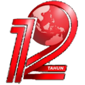 TVONE 12 TAHUN NUMBER WITH GLOBE RED