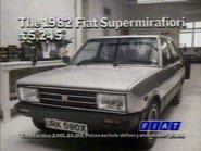 Fiat Supermirafiori AS TVC 1982