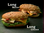 Quick Long Bacon and Long Cheese RL TVC 1998 1