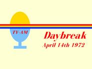 TV AM Daybreak open April 14 1972