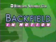 EBC promo - Backfield in Motion - 1991