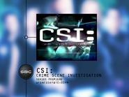 SBC promo - CSI Series Premiere - 2001