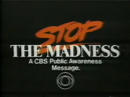 CBS PSA - Stop the Madness - 12-21-1987