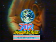 702 Winners Choice Giveaway LB TVC 1989