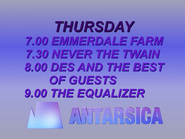 Antarsica Thursday lineup 1987